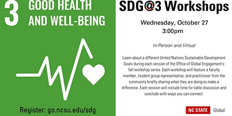 SDG@3 Workshop: Goal 3: Good Health and Well-Being tickets