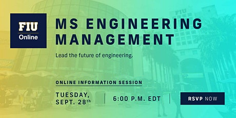 FIU Online Master's in Engineering Management tickets