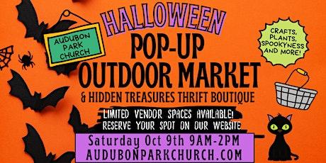 Halloween 2021 Outdoor Market Booth Space Rental at Audubon Park Church tickets