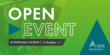 Farnham College October Open Event tickets