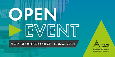 City of Oxford College October Open Event tickets