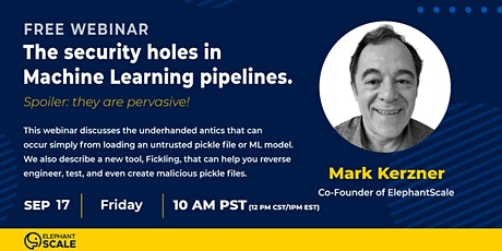 WEBINAR: The Security holes in Machine Learning pipelines. tickets