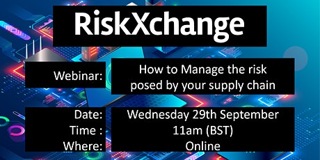 RiskXchange - How to manage the risk posed by your supply chain tickets