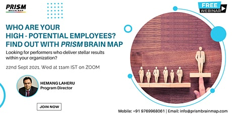 Who are your High potential employees? Find out with PRISM Brain Map tickets