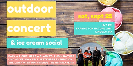 Outdoor Concert and Ice Cream Social at Nature Linc - New Date! tickets