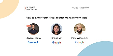 The Product Manifesto Webinar: Enter Your First Product Management Role tickets