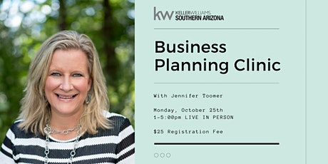 Business Planning Clinic with Jennifer Toomer tickets