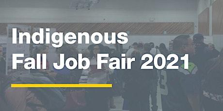 Indigenous  Fall Job Fair 2021 - Job Seeker Registration tickets