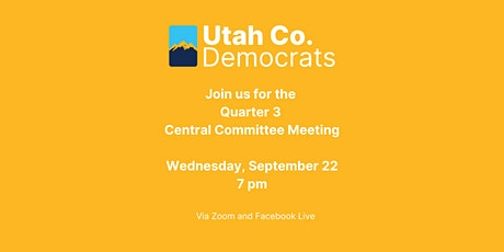 2021 Quarter 3 Central Committee Meeting tickets