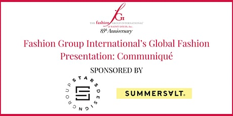 Fashion Group International's Global Fashion Presentation: Communiqué biglietti
