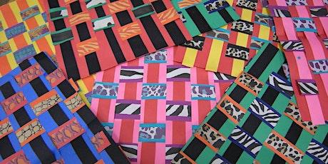 Kente cloth paper weaving tickets