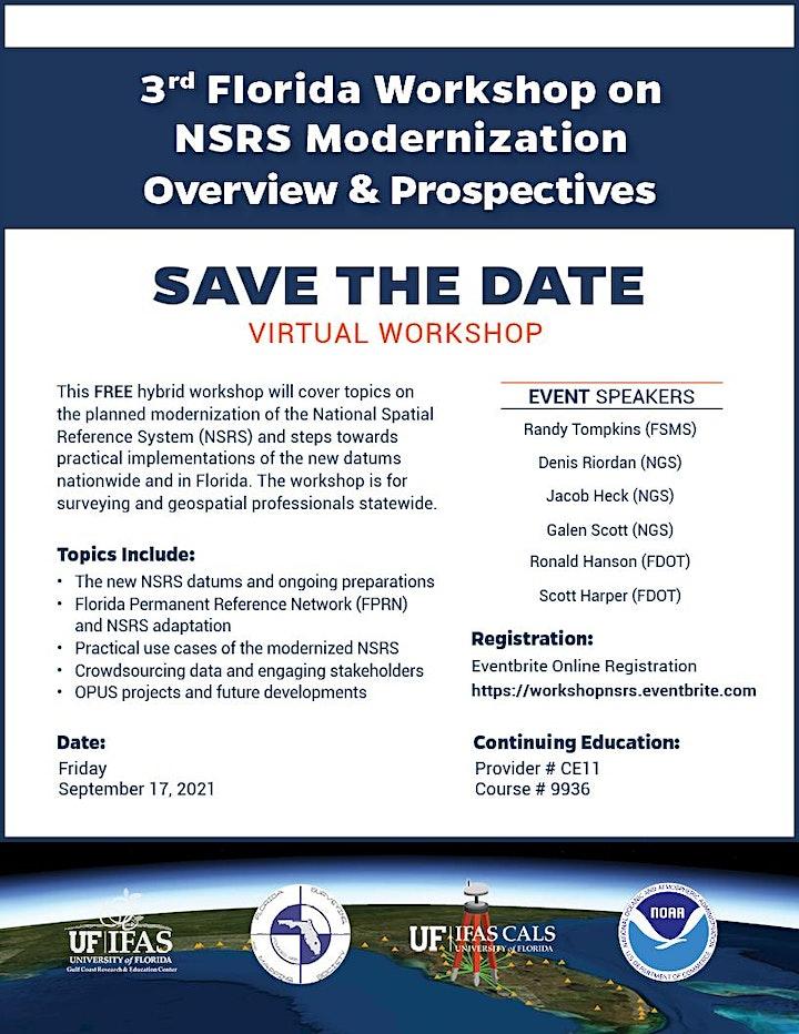3rd Florida Workshop on NSRS Modernization Overview & Prospectives image