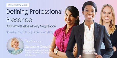 Defining Your Professional Presence and Why It Helps in Every Negotiation tickets