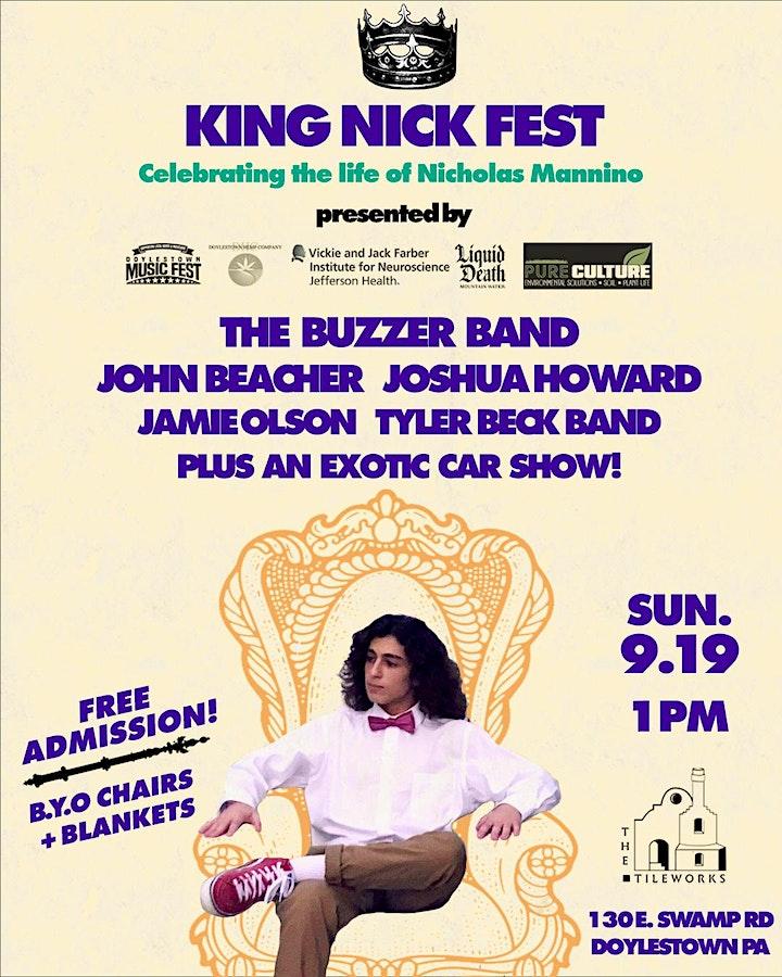 King Nick Fest Music & Car Show at The TileWorks image