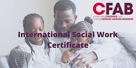 International Social Work Certificate tickets