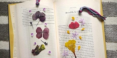 Pressed Flower Bookmarks at Allen Centennial Garden @ 5pm tickets