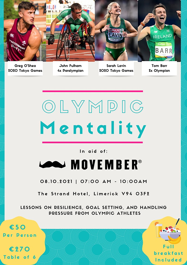 Olympic Mentality - Charity Breakfast & Panel Discussion in aid of Movember image