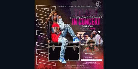 """Talasia: Live in Concert """" Everybody Gone See"""" Single Release Concert tickets"""