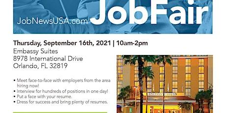 Orlando Job Fair - 100's of Jobs Available on September 16th tickets