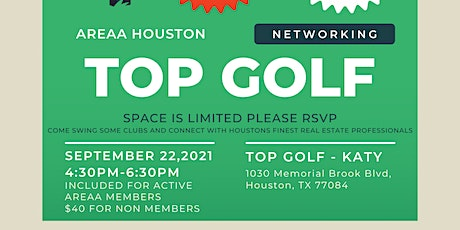 AREAA Houston - TOP GOLF NETWORKING!! tickets