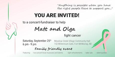 Concert-fundraiser for Matt and Olga tickets