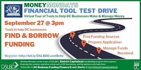 Money Mondays: Financial Tool Test Drive - FIND & BORROW FUNDS tickets