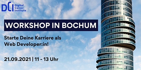 Workshop in Bochum - Starte Deine Karriere als Web Developer:in Tickets