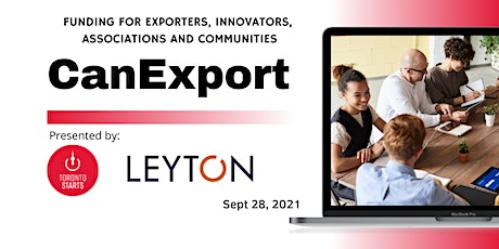 CanExport Funding for Exporters, Innovators, Associations and Communities tickets