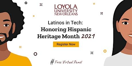 Latinos in Tech: Honoring Hispanic Heritage Month 2021 tickets
