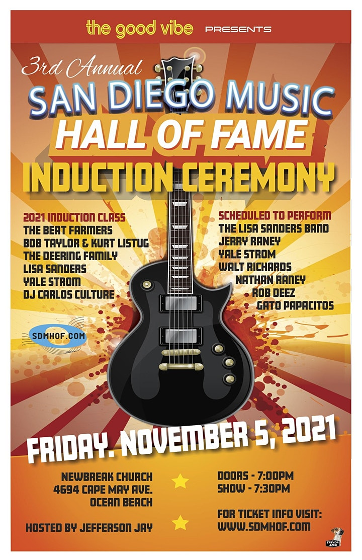 3rd Annual San Diego Music Hall of Fame Induction Ceremony image