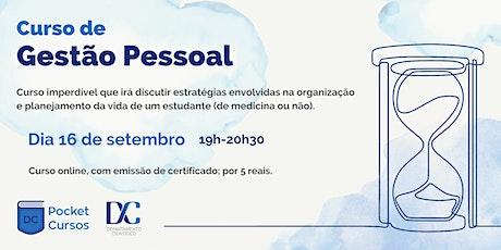 Pocket Curso  Gestão Pessoal - DCFMUSP bilhetes
