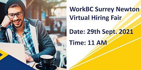 Newton WorkBC Virtual Hiring Fair September 29th tickets
