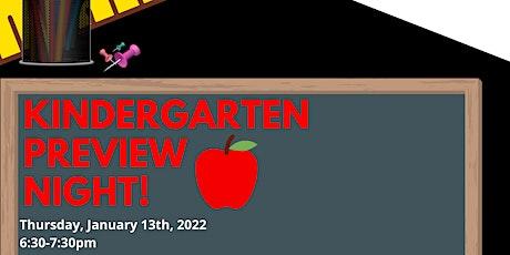 Kindergarten Preview Night tickets