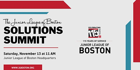 The Junior League of Boston Solutions Summit tickets