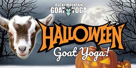 Sunset Halloween Goat Yoga - October 31st (RMGY Studio) tickets
