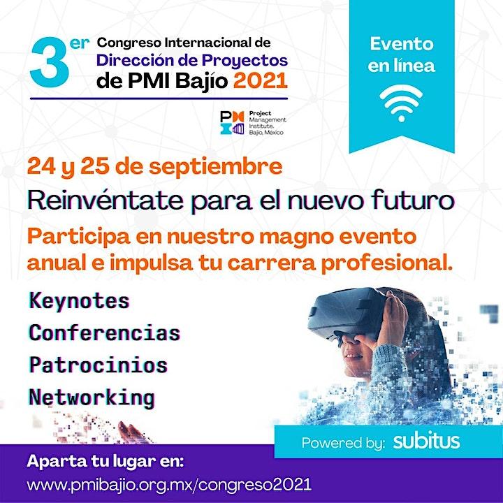 Imagen de Congreso Anual PMI Bajío 2021 - Reinvéntate para el Nuevo Futuro