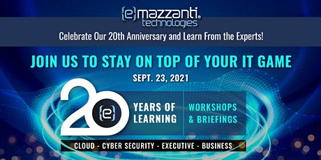20 Years of Learning - WORKSHOPS & BRIEFINGS tickets