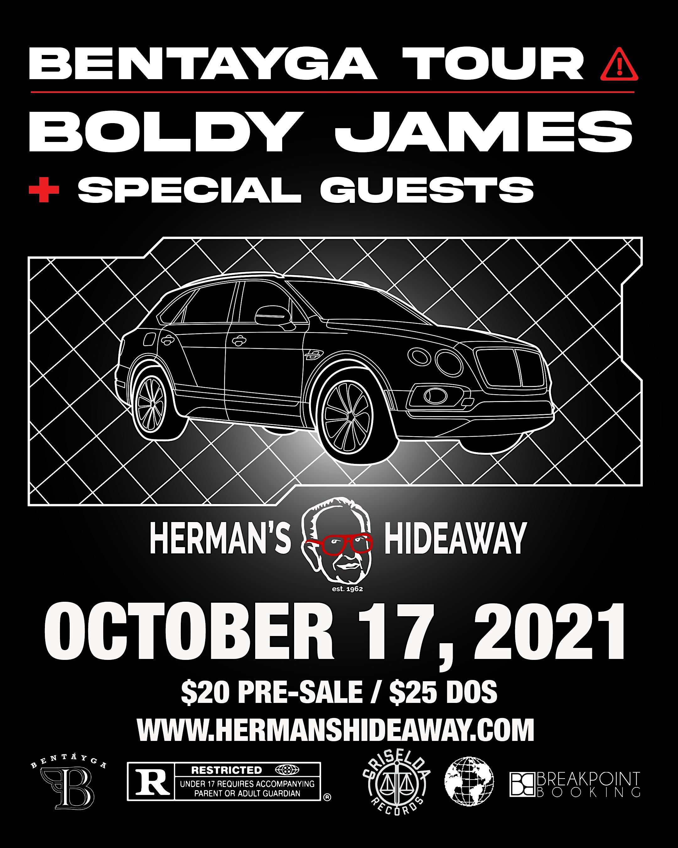 BENTAYGA TOUR – BOLDY JAMES + SPECIAL GUESTS
