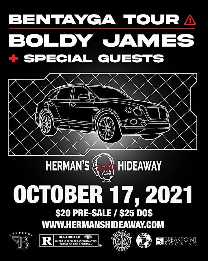 BENTAYGA TOUR - BOLDY JAMES + SPECIAL GUESTS image