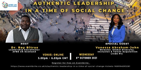 Authentic Leadership in a Time of Social Change tickets