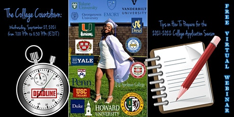 The College Countdown:  How to Prepare For College Applications & Admission tickets