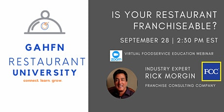 Is your Restaurant Franchiseable? tickets