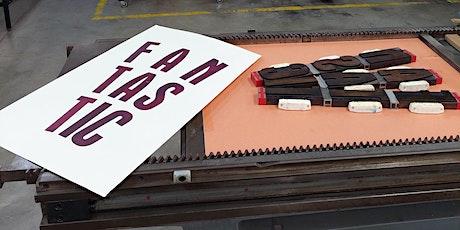 Workshop: Maak fantasierijke letterpress posters tickets