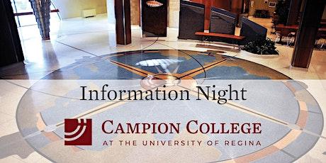 Campion College Information Night tickets