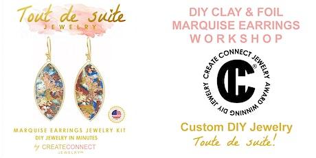 DIY  Gold Foil Technique Earrings Online Virtual  Workshop  Jewelry Class tickets