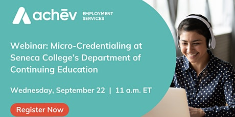 Special Information Session - Seneca College ( Micro-credentialing) tickets