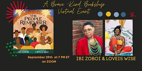 Author  Ibi Zoboi  &  Illustrator Loveis Wise talk THE PEOPLE REMEMBER tickets