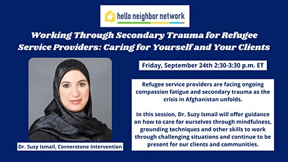 Working Through Secondary Trauma for Refugee Service Providers tickets
