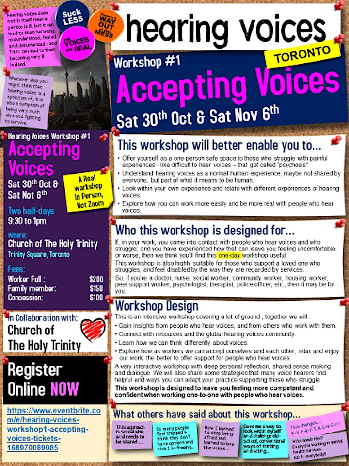 Hearing Voices Workshop#1- Accepting Voices image