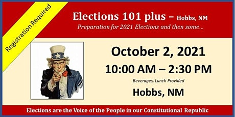 Elections 101 plus - Hobbs, NM tickets